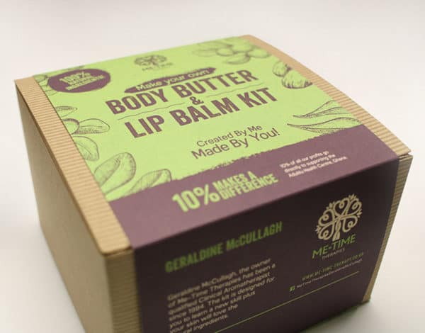 Make your own body butter and lip balm kit